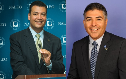 California Secretary of State elect Alex Padilla and Congressman Tony Cárdenas.  Photos courtesy of NALEO Educational Fund and U.S. House of Representatives.