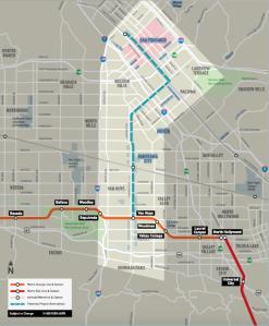 The planned Metro line run through Van Nuys, Panorama City, Arleta, Pacoima, the city of San Fernando, and Sylmar.  Image courtesy of Metro.