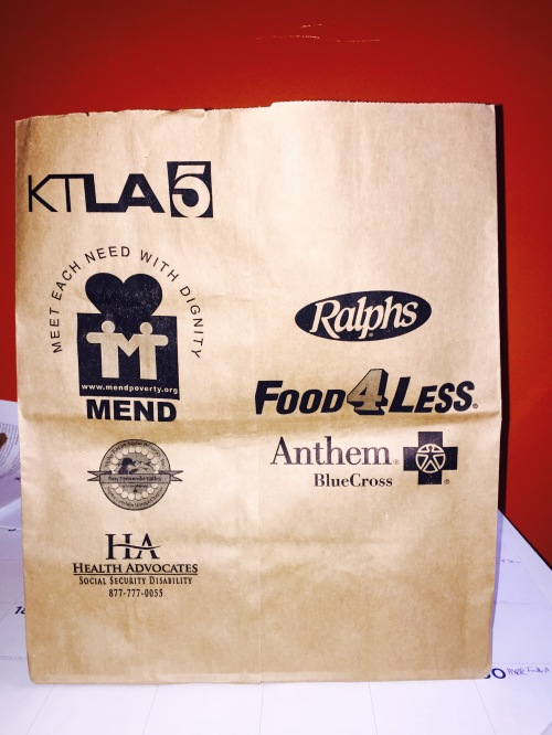 The U.S. Postal Service placed bags like this one in mailboxes this past week.  Non-perishable foods collected in these or any bag or box and placed near mailboxes May 9 will be picked up and delivered to MEND.