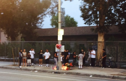 William Barrios' friends and schoolmates gathered for an unplanned vigil Tuesday evening.